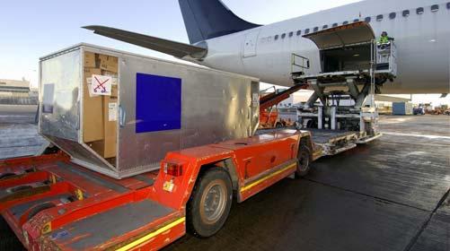 Beladung eines Flugzeugs