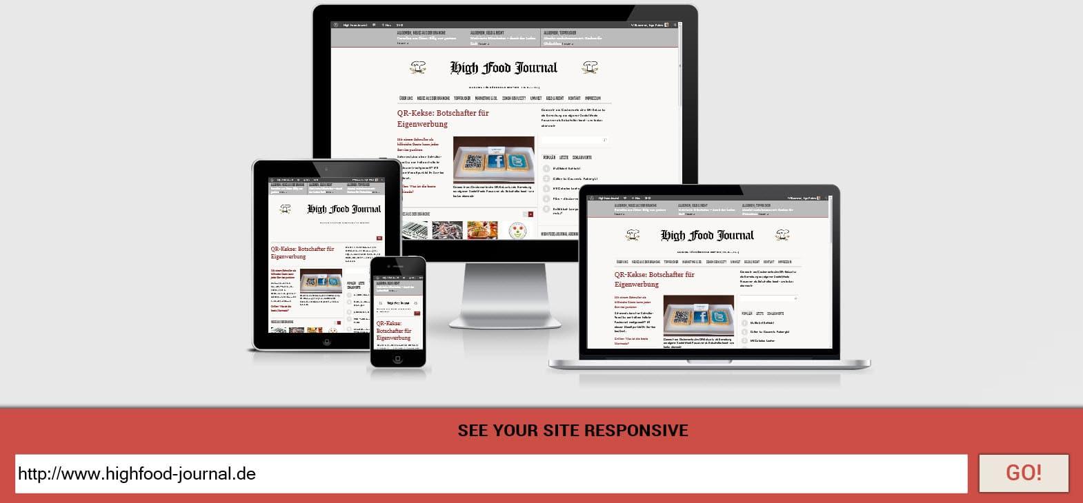 Responsive Webdesign passt sich in der Darstellung den Ausgabegeräten an