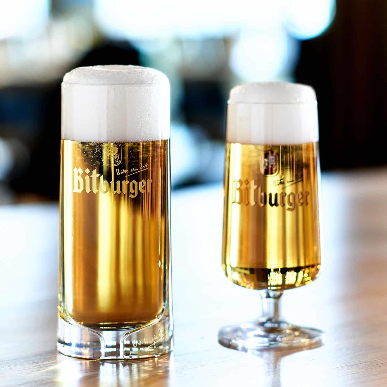 Original Bierpokal von Bitburger im neuen Design