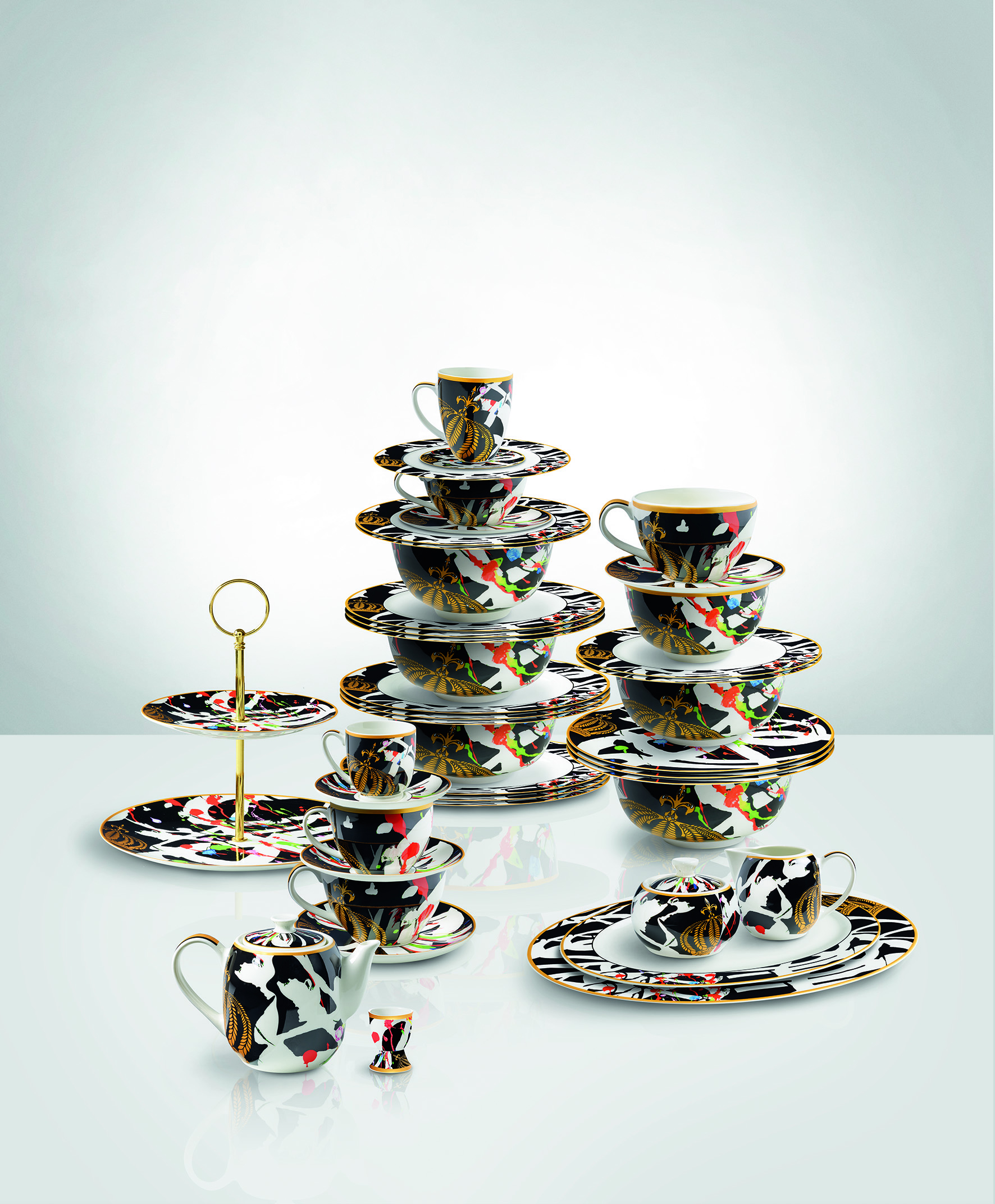 """Glööckler Design-Geschirr Serie """"Art"""" von Maxwell Williams"""