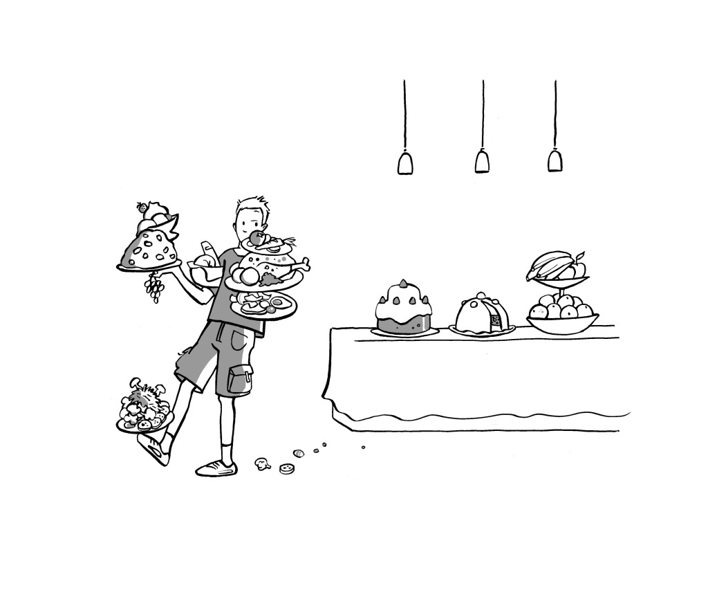 Gäste am Buffet