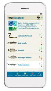 Der Fischratgeber als App, (c)WWF