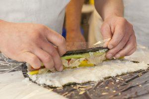 Vier Variationen vom Matjesfilet - SJÖ Sushi Herstellung