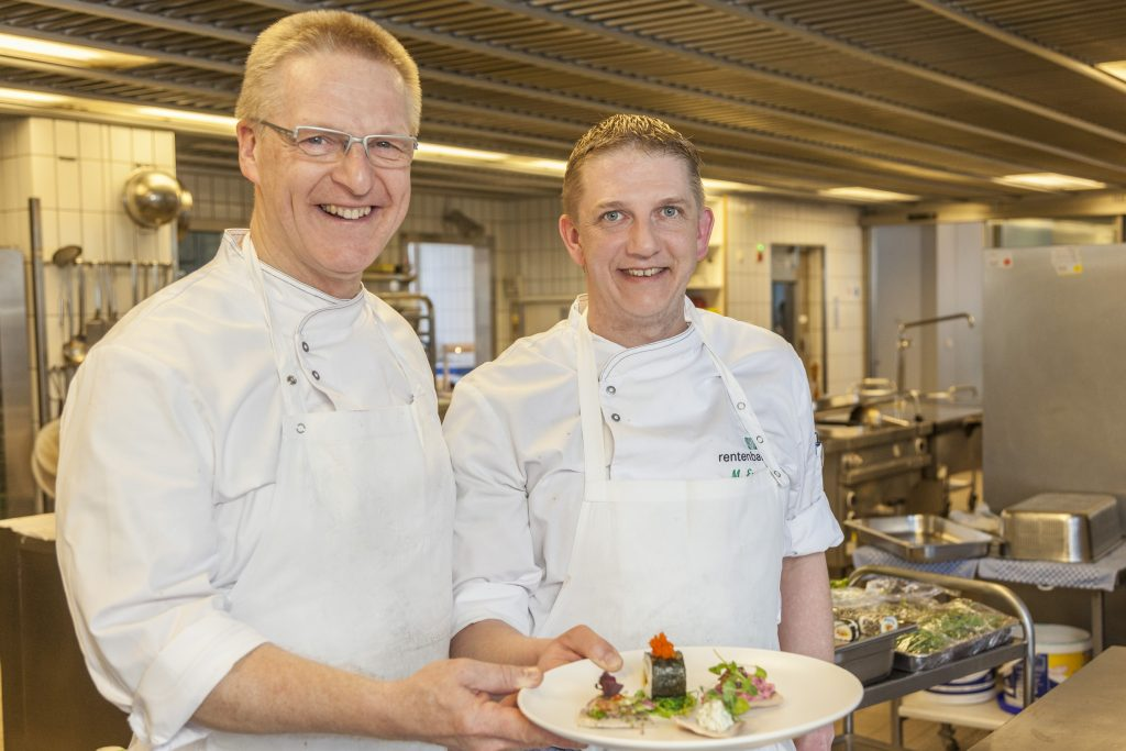 Zu Gast in der Kantine der Rentenbank Frankfurt - Michael Schneider Marco Engel Rentenbank