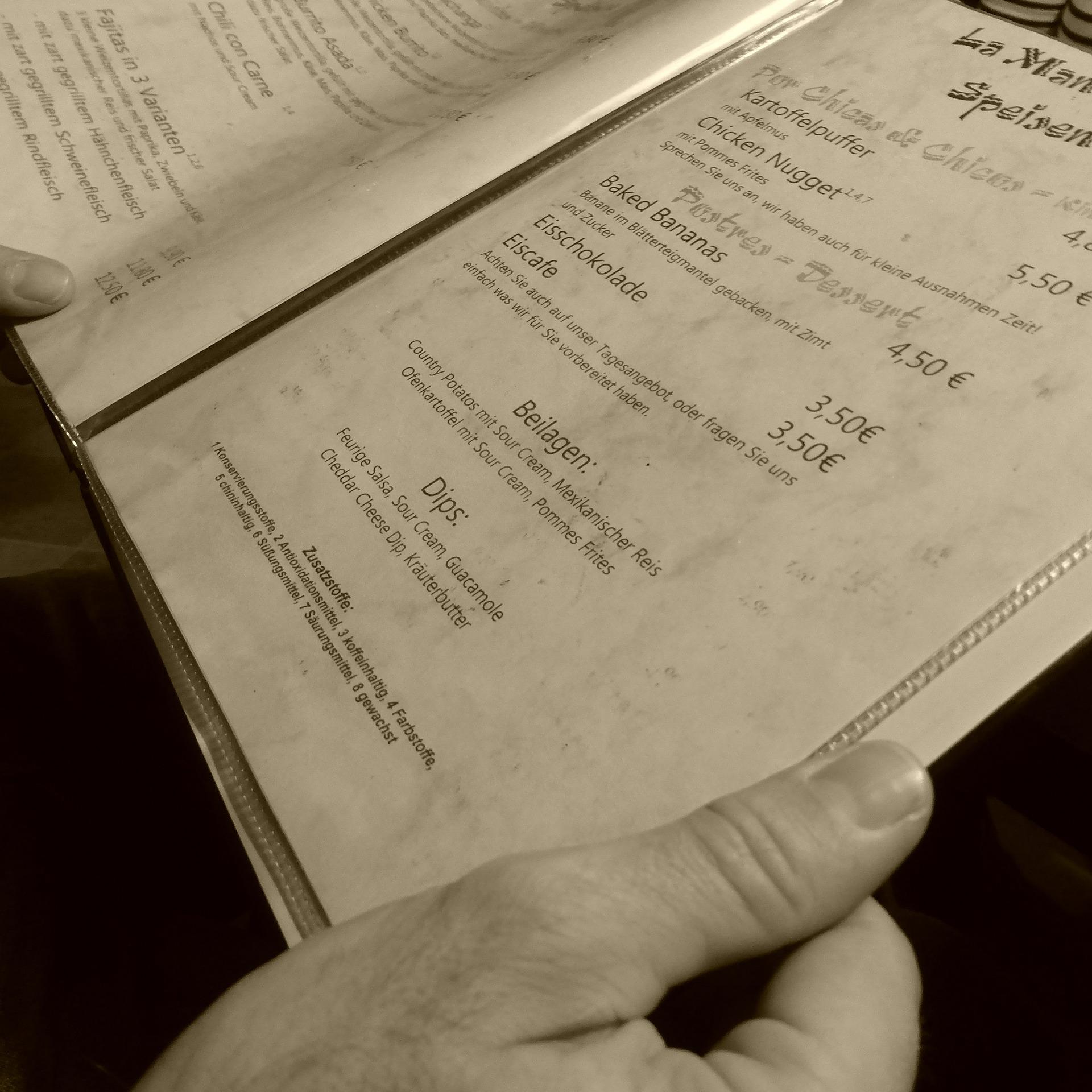 Tipps für eine profitablere Speisekarte - Teil 1