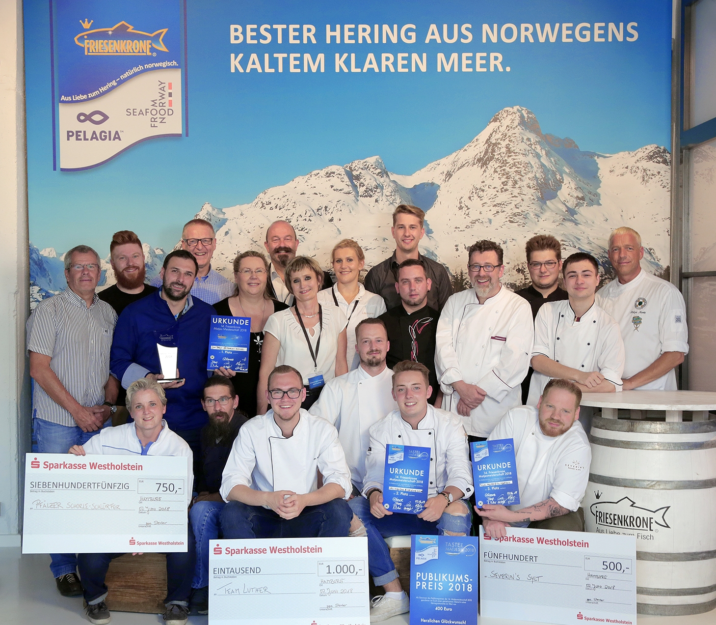 Sieger der 14. Friesenkrone Matjesmeisterschaft stehen fest