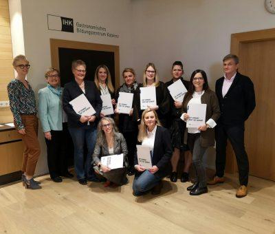 GBZ Koblenz Die ersten Eventmanager haben erfolgreich bestanden