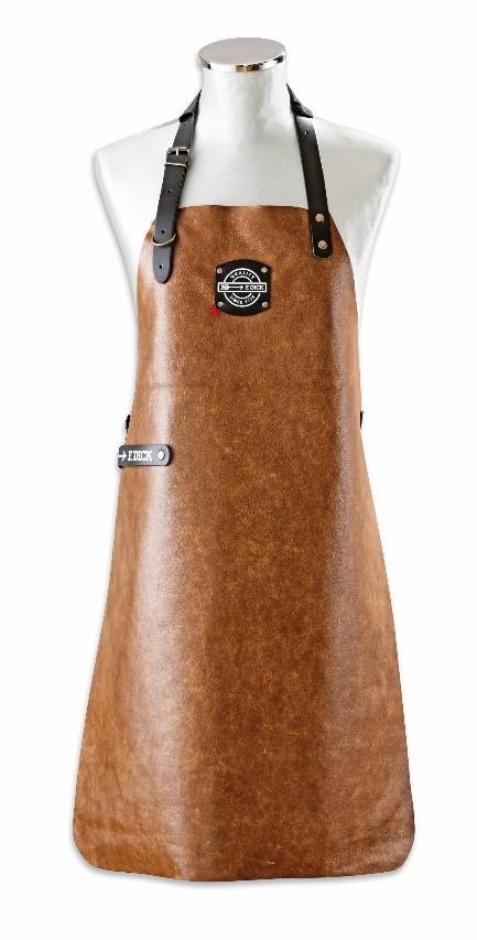 Stylische Lederrolltasche und Lederschürze