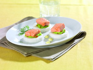 UniKit Fingerfood - Basmatireisrolle mit Lachs