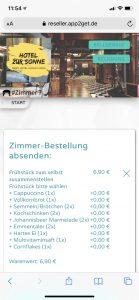 Mit app2get bequem vom Hotelzimmer aus bestellen.