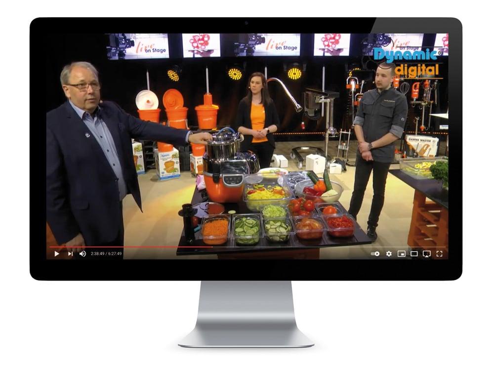 Um den Wegfall der Präsenzmessen zu kompensieren, hat Dynamic Professional mit einem dreitägigen Live-Streaming an der digitalen Intergastra teilgenommen.