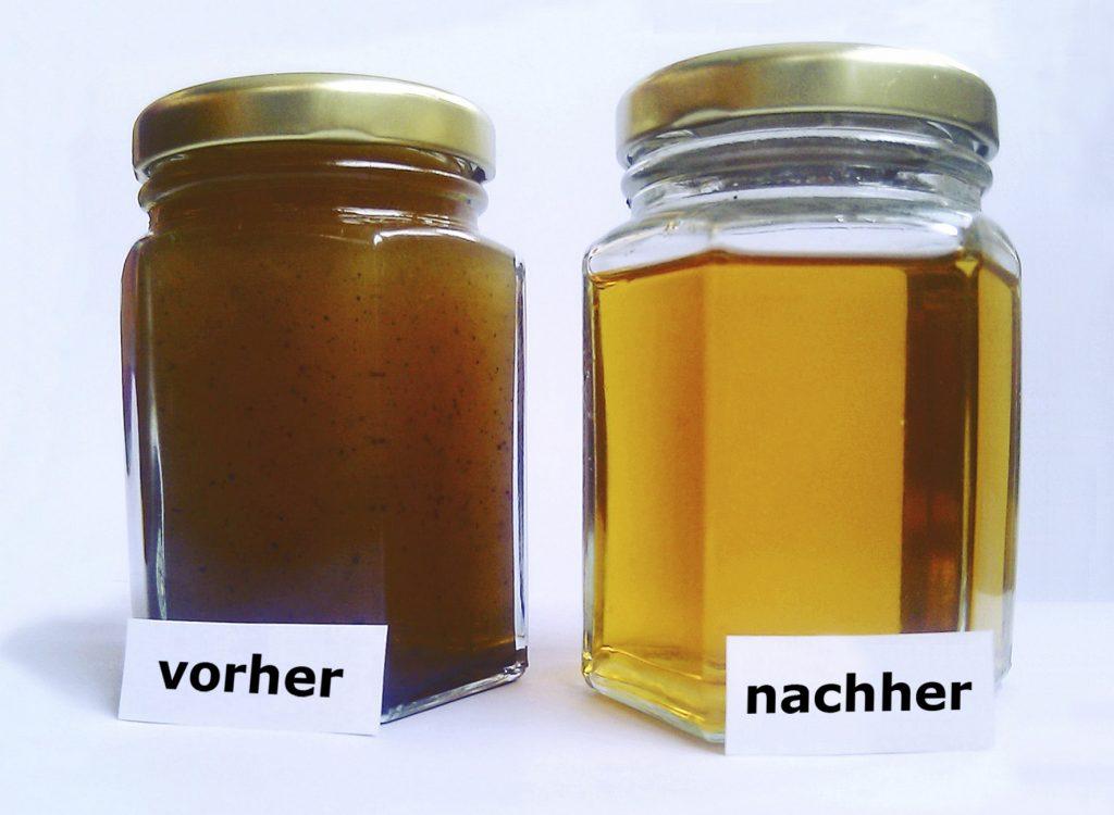 Frittieröl vor und nach der Filta Mikrofiltration