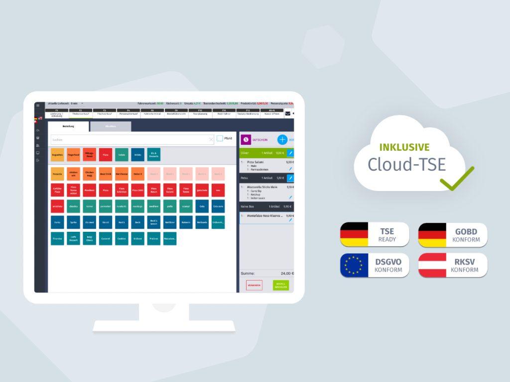 SimplyDelivery bietet seinen Kunden einen rechtssicheren Betrieb des Kassensystems mit automatisierter Installation der Cloud-TSE vom Partner Deutsche Fiskal.