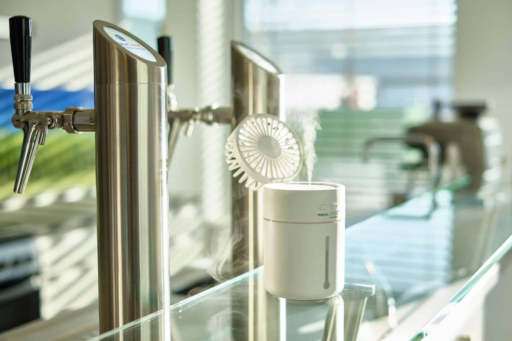 Mit BeviClean Air-Systemen bieten zwei Unternehmen aus der Getränkeindustrie ein Gesamtkonzept zur Verbesserung der Luft in einem Raum.