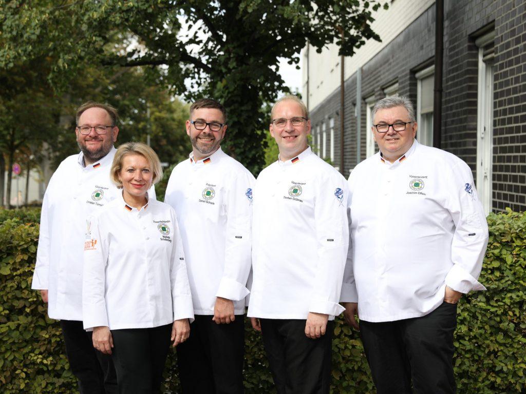 Das neue VKD-Präsidium (v.l.n.r): Christian Türnich, Marketa Schellenberg, Daniel Schade, Thorben Grübnau und Joachim Elflein. Credit: VKD/Ingo Hilger