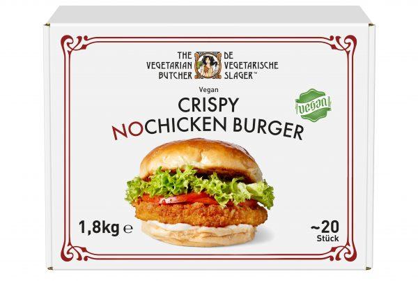 Mit dem neuen veganen Crispy NoChicken Burger schickt Unilever Food Solutions & Langnese einen weiteren kulinarischen Allrounder der Erfolgsmarke The Vegetarian Butcher in die Gastroküchen.