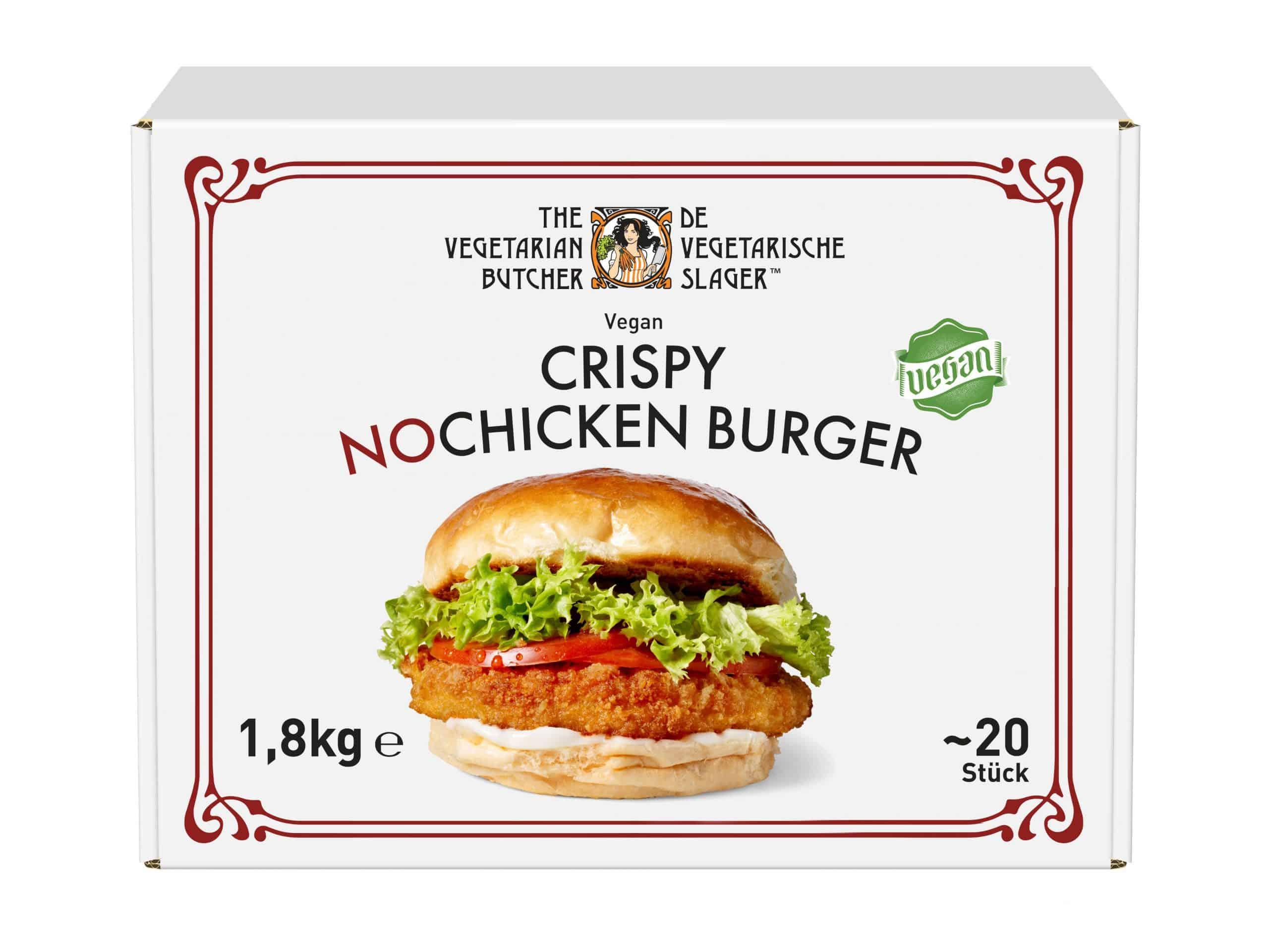 Da lachen ja die Hühner: The Vegetarian Butcher launcht den veganen Crispy NoChicken Burger